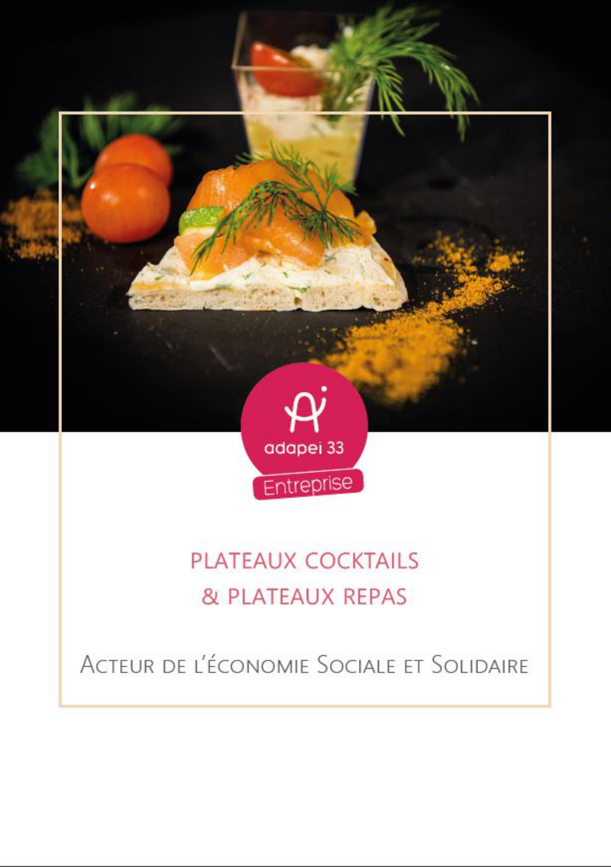 Plateaux cocktails & plateaux repas