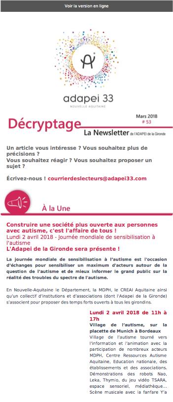 Newsletter ADAPEI #53