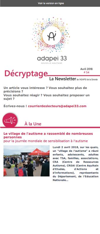 Newsletter ADAPEI #54
