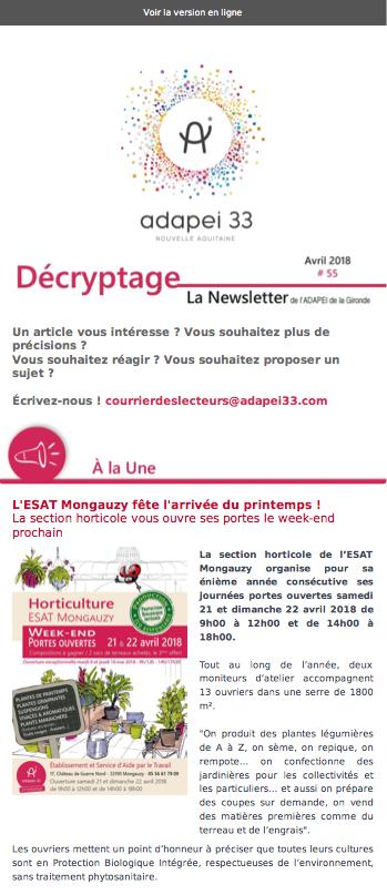 Newsletter ADAPEI #55