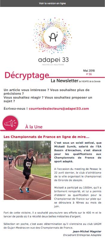 Newsletter ADAPEI #56