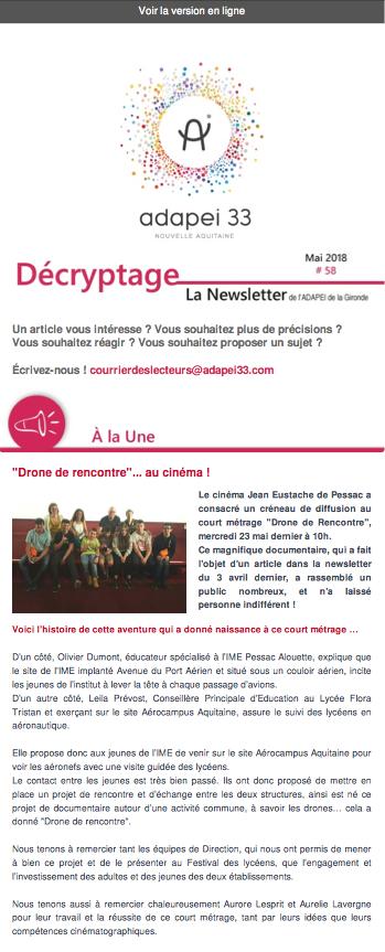 Newsletter ADAPEI #58