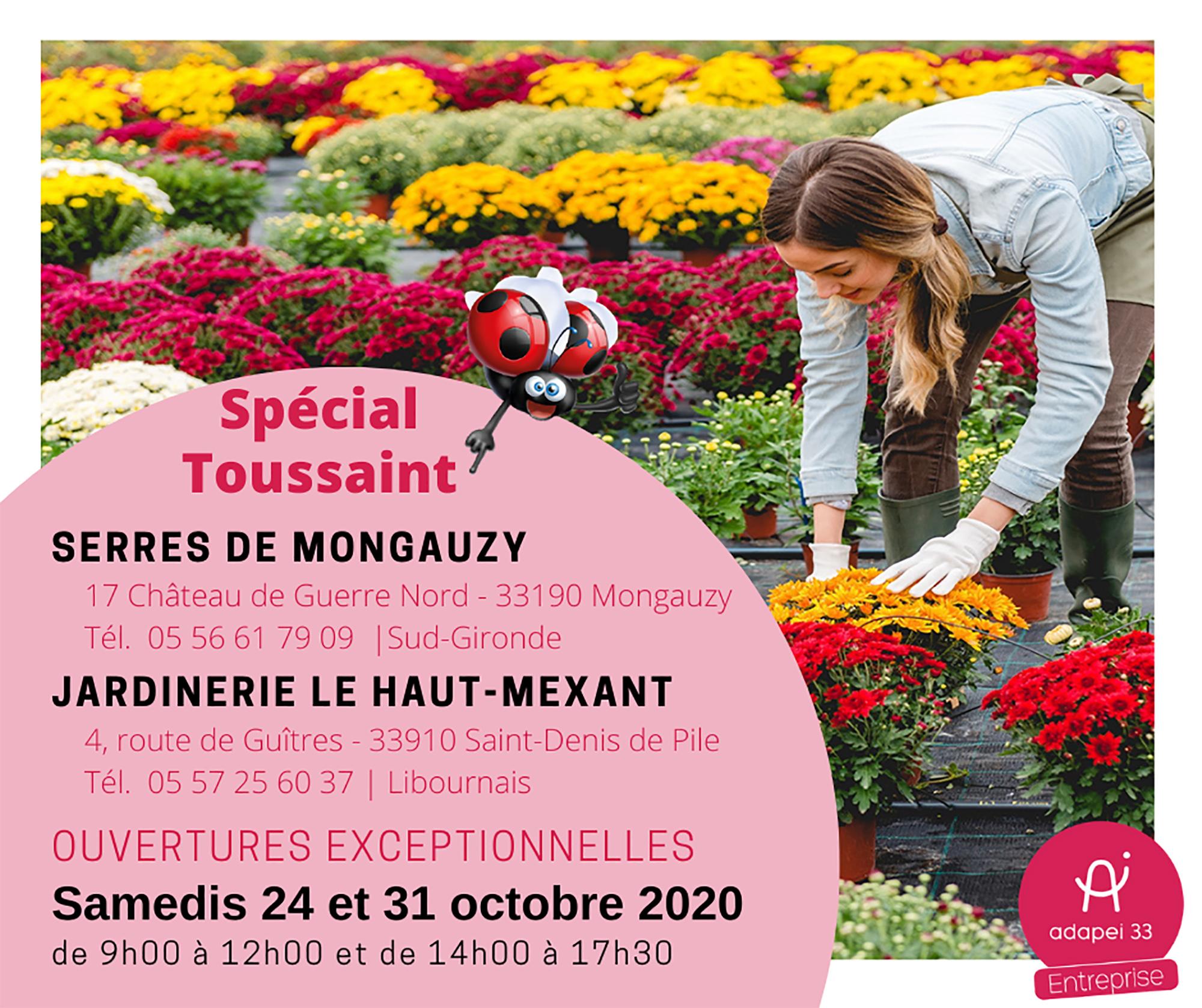 Ouvertures exceptionnelles de la jardinerie du Haut-Mexant et des serres de Mongauzy