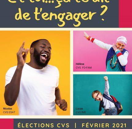 Élections CVS 2021 – Appel à candidatures – personnes accueillies et familles