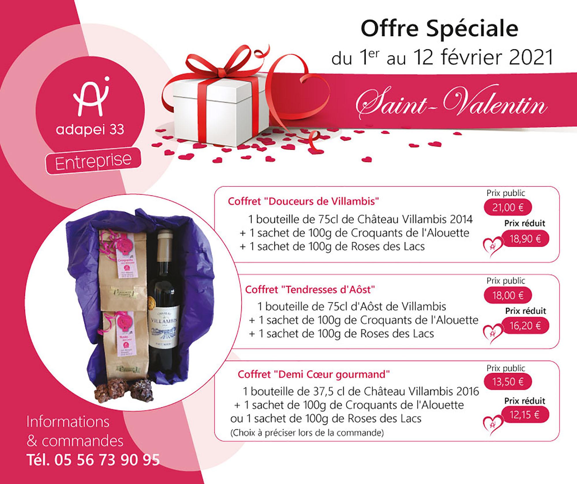 Offre spéciale Saint-Valentin