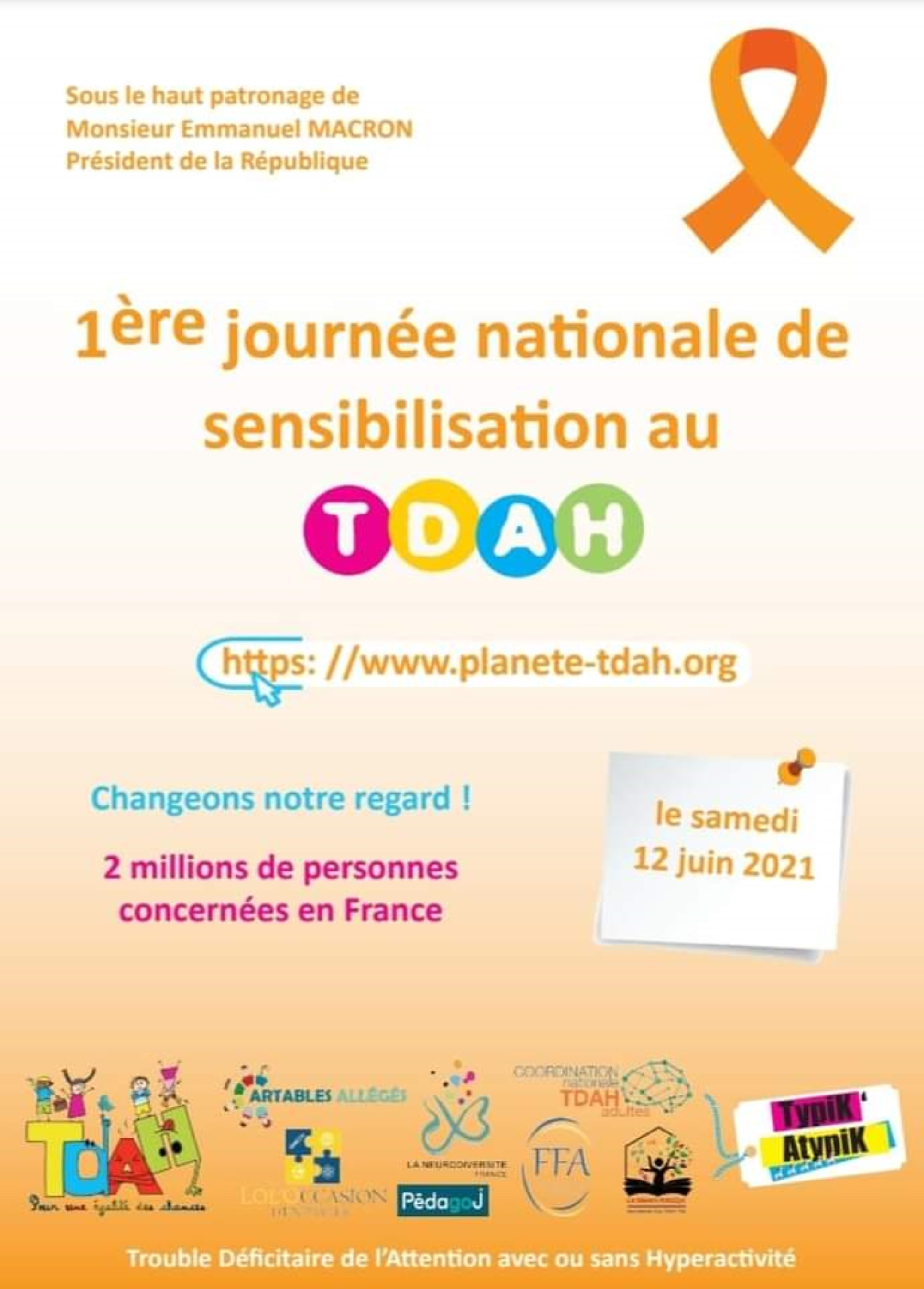 Samedi 12 juin 2021 – Journée nationale de sensibilisation au TDAH