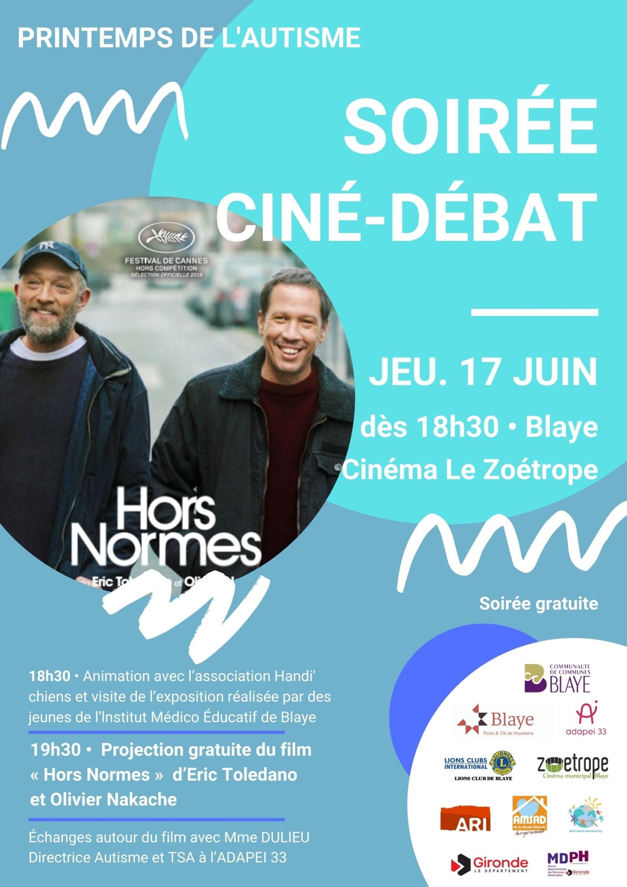 PRINTEMPS DE L'AUTISME – Ciné-débat – Notez la date !