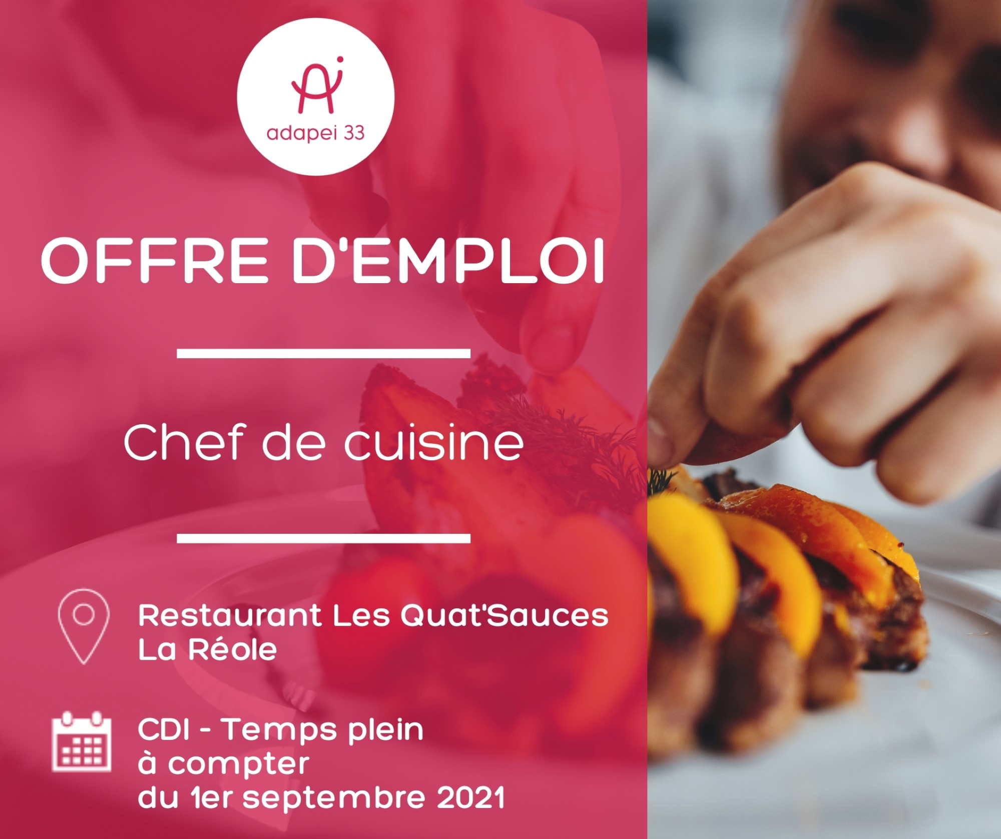 Chef de cuisine - Sud-Gironde