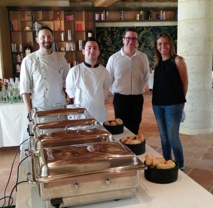 Le restaurant Le Haut-Mexant réalise une prestation au Château-Figeac à Saint-Émilion
