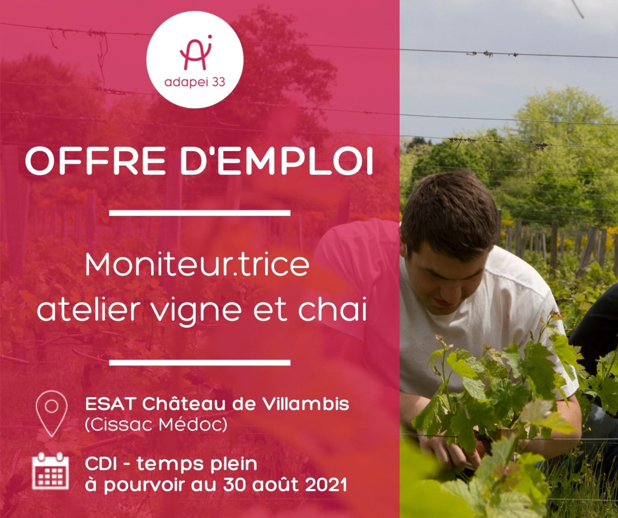 Moniteur.trice d'atelier vigne et chai - Médoc